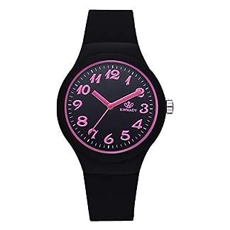 Lolamber-Armbanduhr-fr-Herren-Damen-Slim-Uhr-Armband-Mnner-Leder-Geschfts-Klassisch-Analog-Quarz-Dnn-Armbanduhr-Gents-Luxus-Elegant-Schwarz-Uhr-mit-Schwarz-Zifferblat