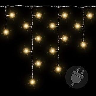 Lichterkette-Auen-600-LED-Warm-Wei-Eisregen-Eiszapfen-Transparentes-Kabel-Auen-Weihnachtsdeko-Weihnachtsbeleuchtung-IP44-10m-Kabel-Zuleitung