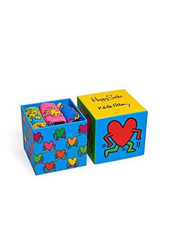 Happy Socks Geschenkbox KEITH HARING SOCK BOX XKEH08-4000 Rot