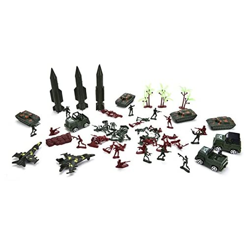 SAFETYON-307P-Soldier-Army-Men-Grenade-Tank-Aircraft-Rocket-Sand-Scene-Kids-Model-Toy-US