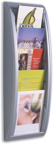 Fast-Paper-Quick-Fit-Prospekt-Wandhalter-5-x-DIN-A5-Fcher-B-228-x-T-95-x-650-mm-Aluminium