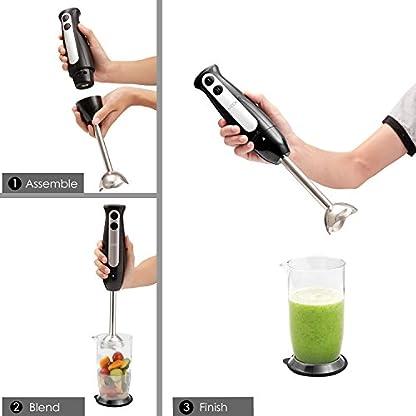 Aicok-Stabmixer-mit-2-Geschwindigkeitsstufen-und-700-ml-Messbecher-fr-Babynahrung-Smoothie-und-Suppen-Ergonomischer-Stabmixer-400-Watt-mit-Edelstahl-Mixfu-Schwarz