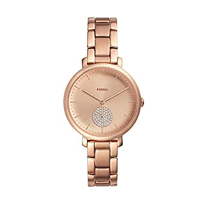 Fossil-Damen-Analog-Quarz-Uhr-mit-Edelstahl-Armband-ES4438
