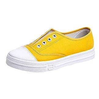 Bequeme-Sportschuhe-fr-DamenFrauen-Canvas-Flache-Sneaker-Basic-Sport-Slip-On-Sneaker-Schuhe-Sommer-Schuhe-Faule-Schuhe-Sportschuhe-Schlpfschuhe-Slippers-Wei-Beige-Schwarz-Grau-Rot-Gelb-35-43-EU