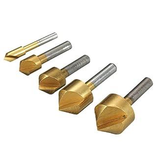 90-einzelne-Floete-Einfuehrschraege-TOOGOOR-5-tlg-HSS-Kegelsenker-Senker-Senkbohrer-Versenker-Set-Holz-Metall-6-19mm-90-einzelne-Floete-Einfuehrschraege