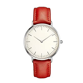 unsex-uhren-Damen-Herren-Casual-Einfache-Quarz-Analoguhr-Rose-Silver-Shell-Watch