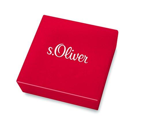 s.Oliver Damen-Ohrstecker So Pure 11 mm Anker 925 Silber rhodiniert Zirkonia weiß