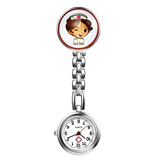 LANCARDO-UhrenKrankenschwester-Armbanduhr-FOB-Uhr-Damen-Taschenuhr-Analog-Quarzuhr-aus-Legierung-LCD037P012