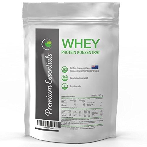 Whey Protein Konzentrat aus neuseeländischer Weidehaltung (vegetarisch), 750g, geschmacksneutral mit 80% Proteinanteil, frei von Zusatzstoffen (750g)