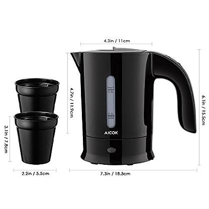 Aicok-Wasserkocher-Klein-Mini-Wasserkocher-05Liter-650-Watts-Kompakt-Reise-Wasserkocher-mit-Automatischer-Abschaltung-120V220-240V-Doppelspannung-BPA-Frei-Schwarz