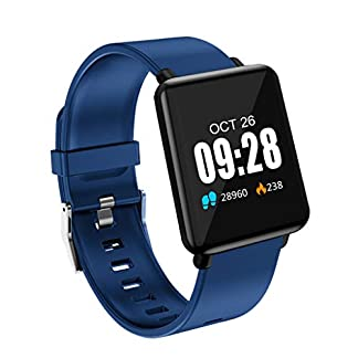 Hukz-Intelligente-Bluetooth-ArmbanduhrFitness-Tracker-Blutdruck-Herzfrequenzmonitor-Aktivitts-Tracker-Smart-Watch