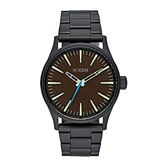 Nixon-Unisex-Analog-Quarz-Uhr-mit-Edelstahl-Armband-A450712-00