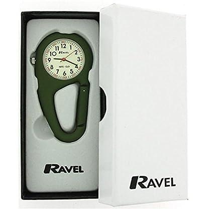 Ravel-Night-Glo-grne-Karabinerhakenuhr-Unisex-Krankenschwester-R1105011