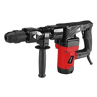 Matrix-Abbruchhammer-1300-Watt-25-Joule-Schlagkraft-4300-Schlge-pro-Minute-mit-Zusatzhandgriff-Meiel-und-Koffer