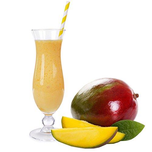 Mango Geschmack Proteinpulver Vegan mit 90% reinem Protein Eiweiß L-Carnitin angereichert für Proteinshakes Eiweißshakes Aspartamfrei (1 kg)