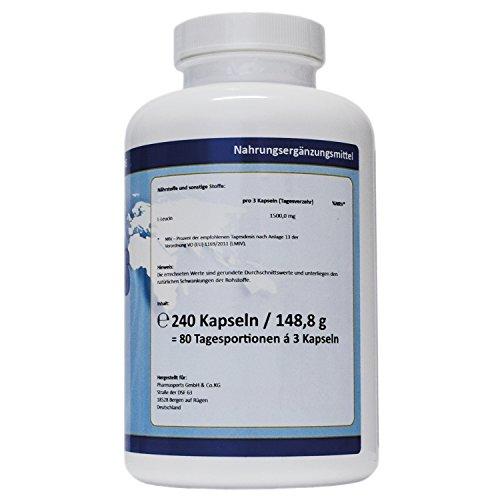L-Leucin 3000 mg pro Dosis – 240 Kapseln – essenzielle Aminosäure