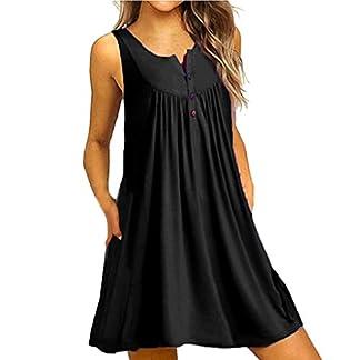 JYJM-2019-Frauen-O-Neck-Minikleid-Lssige-Button-Sleeveless-Minikleid-ber-Knie-Kleid-Lose-Party-Minikleid-Damen-Off-Cocktailkleid-Shoulder-Kleider-fr-Hochzeit-Elegant-Maxikleider