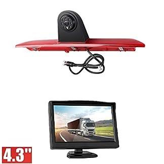 HD-Dritte-Dach-Top-Mount-Bremsleuchte-Kamera-Bremslicht-Einparkkamera-Rckfahrkamera-Set-Nachtsicht-43-Zoll-Monitor-TFT-Bildschirm-LKW-KFZ-Display-fr-Ford-Transit-Jumbo-F150F250F350-MK8-14-19
