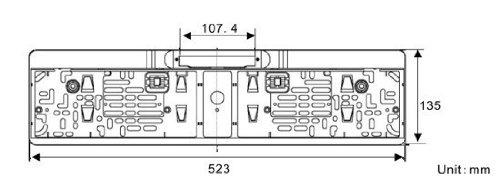 YMPA-Rckfahrkamera-Kennzeichen-Nummernschild-Kennzeichenhalterung-mit-Nachtsicht-IR-Farbe-Kamera-10-Meter-Kabel-fr-Auto-PKW-KFZ-universal-Distanzlinien-Hilfslinien-fr-Monitor-170-180-RFK-NSK10