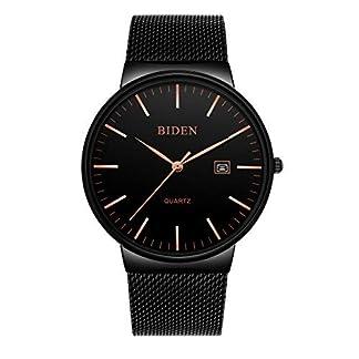 Uhr-Herren-Quarzuhren-Lightweight-Einfache-Watch-Super-dnne-Armbanduhr-mit-Edelstahl-Mesh-Band-fr-Mnner-Jungen