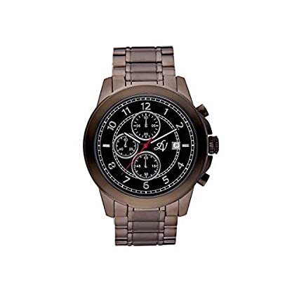 Louis-Villiers-Unisex-Analog-Quarz-Uhr-mit-Edelstahl-Armband-LV1015
