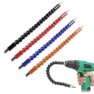UCTOP-STORE-4-Stck-Flexible-Bohrerbit-Verlngerung-14-Zoll-Sechskant-Flex-Adapter-Drive-Schnellverbindungs-Verlngerung-Weicher-Schaft-Schraubendreher-Bohrer-Bit-Halter