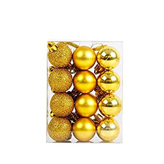 Gespout-24-Stck-Bunt-Weihnacht-Kugeln-Ornamente-Weihnachtsdekoration-Bruchsichere-Anhnger-Christmas-Decoration-Balls-fr-Weihnachtsbaum-Dekoration-Party