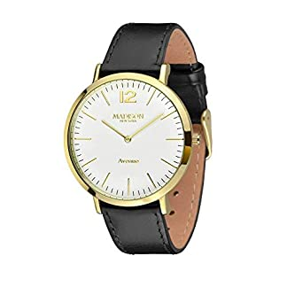 MADISON-NEW-YORK-Damen-Uhr-Avenue-Gold-Schwarz-Small-Onesize