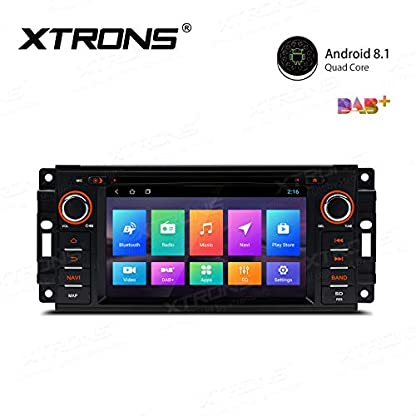 XTRONS-62-Android81-Autoradio-mit-Touchscreen-Quad-Core-DVD-Player-Autostereo-MirrorLink-4G-WiFi-Full-RCA-Ausgang-Bluetooth-Lenkradfernbedienung-16GB-ROM-DAB-OBD2-FR-JeepDodgeChrysler