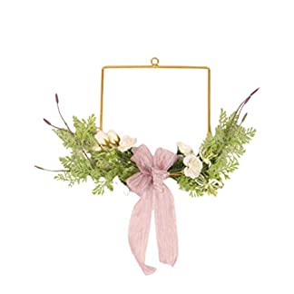 VOSAREA-Knstliche-Blumengirlande-Hngen-Platz-Eisen-Hoop-Girlande-fr-Weihnachten-Home-Hotel-Einkaufszentrum-Shop-Band-Muster