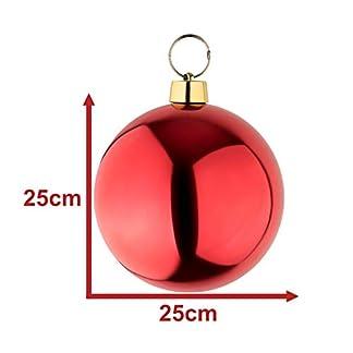 your-castle-Groe-Weihnachtskugeln-Christbaumkugel-rot-glnzend-25-cm-Durchmesser-Hochwertig-fr-Innen-und-wetterfest-fr-Aussen-Mit-Aufhngung-und-Stahlring