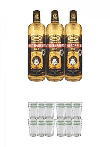 Velho-Barreiro-Gold-Cachaca-3-x-10-Liter-Velho-Barreiro-Caipirinha-Glas-6-Stck-Velho-Barreiro-Caipirinha-Glas-6-Stck