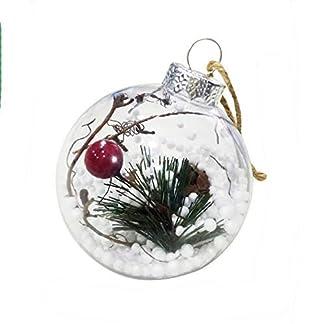 Gespout-1-Stck-Weihnachten-Dekoration-Anhnger-Kinderspielzeug-Christbaumschmuck-aus-Kunststoff-Ornamente-Runde-Kugeln-fhnger-Weihnachtsbaumschmuck