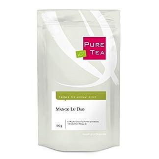 PURE-TEA-Mango-Lu-Dao-100g–Hochwertiger-Grner-Tee-mit-Mango-lose-Bltter