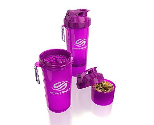 SmartShake 500 ml/18 oz, violett Slim neon, 1er Pack