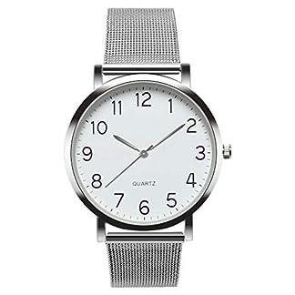 MJARTORIA-Herren-Analog-Quarzuhr-Silber-Mesh-Edelstahl-Armband-Silber-Farbe-Gehuse-Blau-Zifferblatt-Uhr-Mnner-Business-Armbanduhr-Geschenk