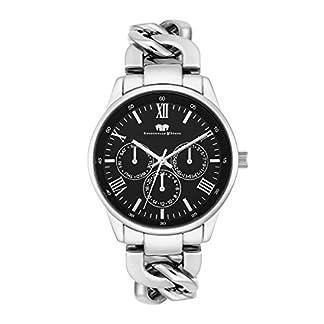 Rhodenwald-Shne-Brana-Damenuhr-Quarzuhr-Edelstahl-silberschwarz-3-ATM-Przisions-Quarzwerk-Multifunktion-Optik-Metall-Gliederarmband-silber-Armband-Uhr-analog