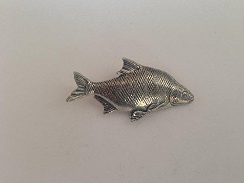 F31Brassen feines englisches Zinn Fisch Anstecker mit einem prideindetails Geschenk-Paket