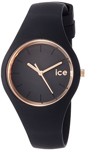 Ice-Watch-ICE-glam-Black-Rose-Gold-Schwarze-Damenuhr-mit-Silikonarmband