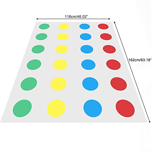 ZOKEO-Twister-Familienbrettspiel-Spielteppich-fr-intellektuelle-Entwicklung-der-frhen-Kindheit-Eltern-Kind-Haus-Interaktion-Spielzeug