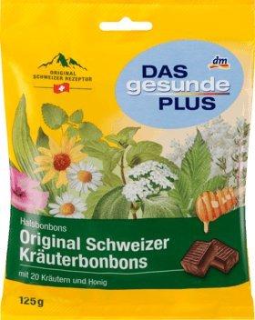 DAS gesunde PLUS Original Schweizer Kräuterbonbons, 125 g