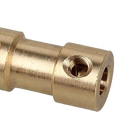 Golden-3-mm-x-4-mm-Messing-Gelenk-Motor-Schaft-Kupplung-Adapter-Stecker-fr-RC-Aircraft-Set-von-2