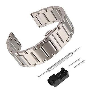 BEWISH-Uhrenarmbnder-Edelstahl-Ersatzband-Solide-Metall-Schnellwechselbgel-Uhrarmband-Edelstahlschliesse-Uhr-Band-Schnalle-Wechselarmband-Uhr-Armband-Smart-Watch-Wrist-Strap-Band-Replacement