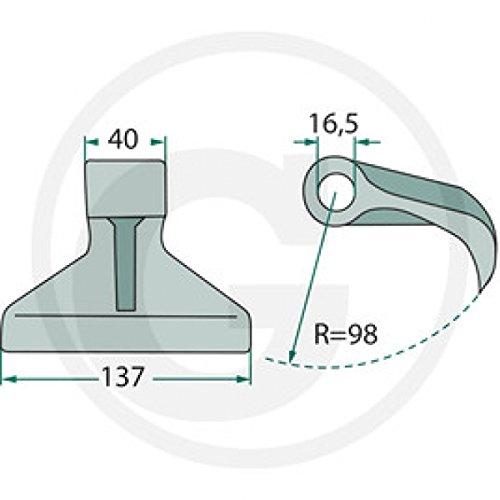Hammerschlegel-passend-fr-Mthing-Berti-Agritech-Mulcher-AP-00889-63-RM-30-1200g