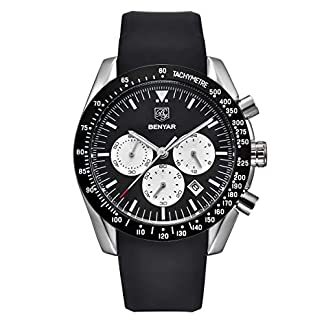 BENYAR-Herren-Chronographenuhr-Quarzwerk-Analog-Watch-Mode-Business-Sportuhr-30M-wasserdicht-und-Kratzfest-Elegant-Mnner-Geschenk
