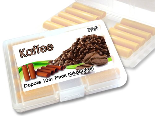 N$B® fruchtige Depots ,,Kaffee,, 10er Pack im Etui für E-Zigaretten ohne Nikotin