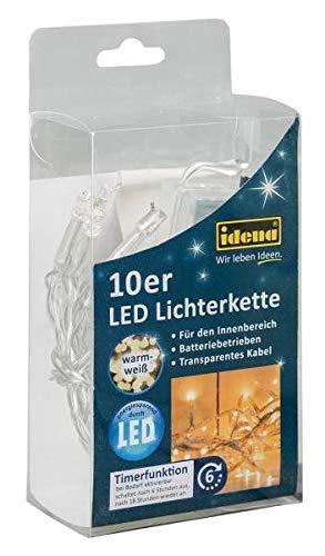 Idena-8582065-LED-Lichterkette-10er-fr-Innen-batteriebetrieben-Plastik-warmwei-100-x-5-x-2-cm