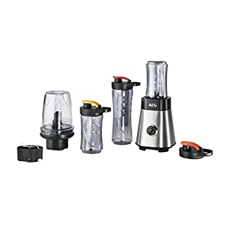 AEG-SB2900-Standmixer-fr-Smoothie-Bowl-05-PS-Power-Motor-1x-06-l-und-2x-03-l-transparente-Khlakku-SilberSchwarz