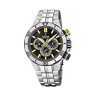 Festina-Unisex-Erwachsene-Chronograph-Quarz-Uhr-mit-Edelstahl-Armband-F204488
