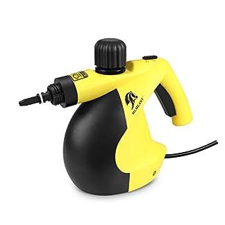 MLMLANT-dampfreiniger-Mehrzweck-350ml-Handdruckdampfreiniger-mit-11-teiligem-Zubehr-fr-Fleckenentfernung-Teppiche-Vorhnge-Bettwanzensteuerung-Autositze-MEHRWEG-GelbSchwarz